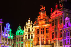 Grote Markt - The main square and Town hall of Brussels. Belgium Stock Images