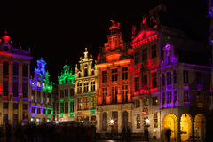 Grote Markt - The main square and Town hall of Brussels Royalty Free Stock Photo