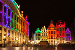 Grote Markt - The main square and Town hall of Brussels Royalty Free Stock Photos