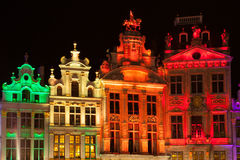 Grote Markt - The main square and Town hall of Brussels Stock Photo