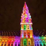 Grote Markt - The main square and Town hall of Brussels Stock Photography