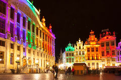 Grote Markt - The main square and Town hall of Brussels. Belgium Royalty Free Stock Image