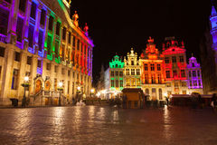 Grote Markt - The main square and Town hall of Brussels Stock Image