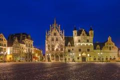 Grote Markt in Mechelen - Belgium. Grote Markt in Mechelen Belgium - architecture background Stock Photo