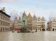 Grote Markt square, Antwerpen royalty free stock images
