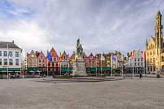 Grote Markt square in Bruges, Belgium Stock Photos