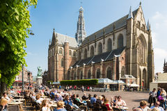 Grote Markt square in Haarlem Royalty Free Stock Images
