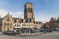 Grote Markt of Veurne Stock Image