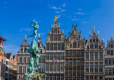 Grote Markt w Antwerp, Belgia - Obraz Royalty Free
