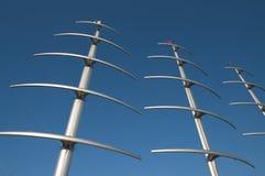 Grote masten in de Vezel van de Koolstof royalty-vrije stock foto