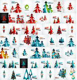 Grote megainzameling van Kerstkaarten en Royalty-vrije Stock Afbeeldingen