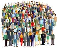 Grote menigte van mensen royalty-vrije illustratie