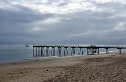 Grote meningen van Hervey Bay van de houten Torquay-pier stock fotografie