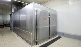 Grote metaal industriële koelkast Stock Afbeelding