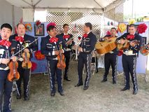 Grote Mexicaanse Band Mariachi Stock Fotografie