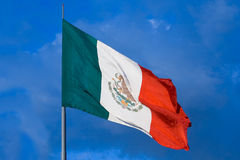 Grote Mexicaanse Vlag Stock Foto's