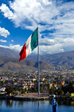 Grote Mexicaanse Vlag Royalty-vrije Stock Foto's