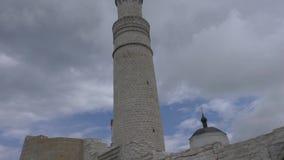 Grote Minaret Complex in ruïnes van Bolgar, Kazan, Rusland stock footage