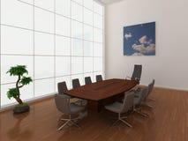 Grote, moderne bestuurskamer Stock Fotografie