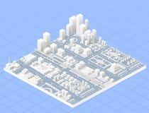 Grote moderne stad Royalty-vrije Stock Afbeeldingen