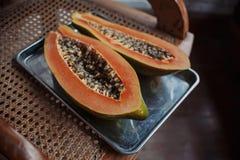 Grote mooie zoete papaja Stock Foto