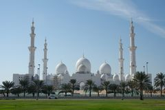 Grote Moskee Abu Dhabi Stock Foto