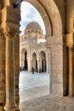 Grote Moskee in Kairouan Royalty-vrije Stock Foto's