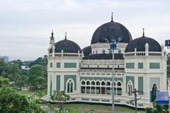 Grote Moskee in Medan Royalty-vrije Stock Foto's