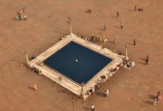 Grote Moskee in New Delhi. India royalty-vrije stock afbeeldingen
