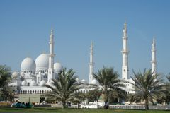 Grote Moskee van Abu Dhabi Royalty-vrije Stock Foto