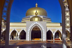 Grote Moskee van Lawas, Sarawak, Maleisië Stock Afbeeldingen