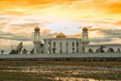 Grote moskee voor de godsdienst van islam stock fotografie