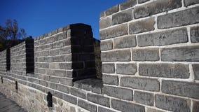 Grote muur, oude de defensietechniek van China stock video
