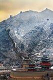 Grote muur in sneeuw Royalty-vrije Stock Afbeeldingen