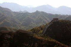 GROTE MUUR VAN CHINA (klikbeeld aan gezoem) royalty-vrije stock fotografie