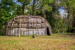 Grote Native American-Hut royalty-vrije stock foto's