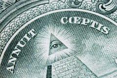 Grote Neal bij de rug van de dollarrekening Stock Afbeelding