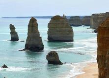 Grote OceaanWeg 12 apostelen Stock Foto