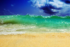 Grote oceanic golf Stock Foto