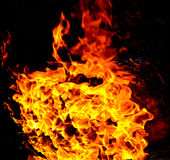Grote ontploffing van brand stock fotografie