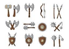 Grote ontworpen beeldverhaalwapens Royalty-vrije Stock Afbeeldingen