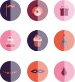 Grote ontworpen manierillustraties Stock Foto