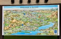Grote Osoyoos-Stadskaart stock foto