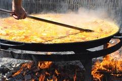 Grote Paella Royalty-vrije Stock Afbeeldingen