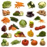 Grote pagina van groenten Stock Foto's
