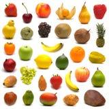 Grote pagina van vruchten en noten Stock Fotografie