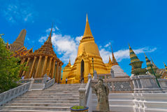 Grote Paleis en Stupa, Bangkok, Thailand Stock Foto