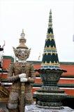 """Grote Paleis Thaise พระบรภ¡ ภ¡ ภ""""ภ² รภ² ช วัภ‡, Phrabarommaharadchavang - een complex van gebouwen  Royalty-vrije Stock Afbeeldingen"""