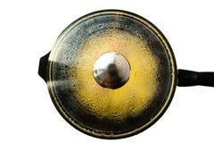 Grote pan met heet voedsel royalty-vrije stock foto's