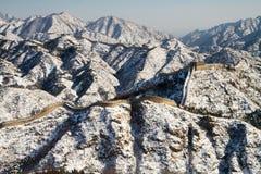 Grote panoramische Muur van China Stock Foto